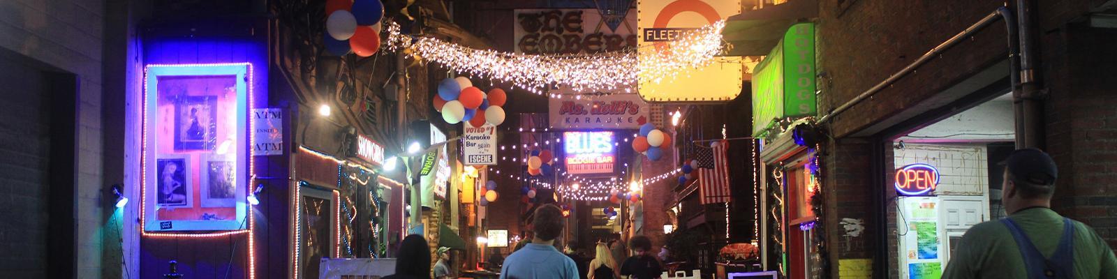 Nashville's nightlife lit by neon signs