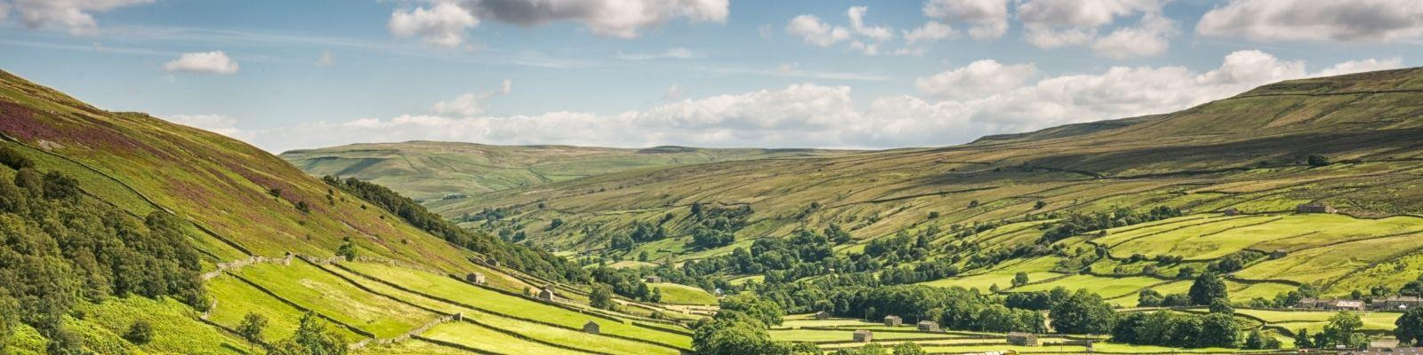 Swaledale in the Yorkshire Dales National Park, England.