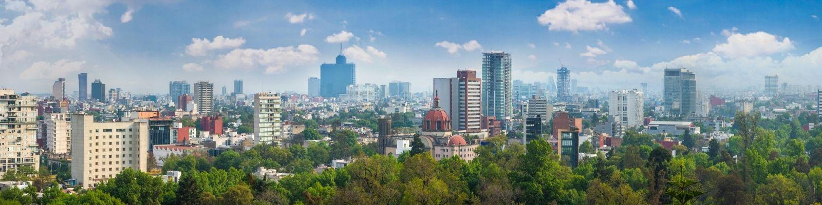 A panorama of the Mexico City skyline