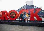 Entrada del Rock and Roll Hall of Fame, en Cleveland. Cleveland, OH, ESTADOS UNIDOS
