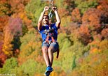 Mega Ziplines over Laurentian Mountains at Mont-Catherine