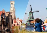 Amsterdam Super Saver: Bruges Full-Day & Countryside and Windmills Half-Day Tour