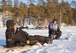 Lake Inari Ice Fishing Safari from Saariselkä