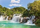 Breathtaking Krka waterfalls, relaxing walk through nature