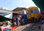 Maeklong Railway & Amphawa Floating Market with Firefly Boat Tour from Bangkok