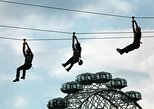enjoy an aerial view of the city while zip lining