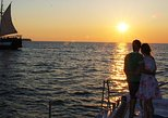 Sunset Sailing Catamaran Cruise in Santorini with BBQ and Drinks