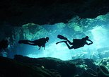 Scuba dive in the mystical cenotes - double cavern diving package with lunch