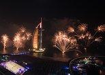 New Year Celebration In Arabian Gulf in Marina with fantastic Fireworks