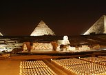 Giza Pyramids sound and light show at Night