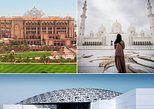 Abu Dhabi Grand Mosque, Louvre Museum and Coffee at Emirates Palace