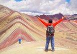 Montanha do arco-íris de Vinicunca dia inteiro. Cusco, PERU