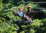 Roatan Jungle Top Zip Line Adventure plus City Tour and Shopping with Beach
