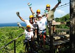 Roatan Zip Line Adventure with Monkey and Sloths and Glass Bottom Boat