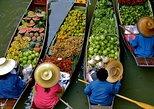 Damnern Saduak Floating Market, Grand Palace, Wat Phra Keo & Wat Pho