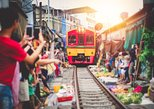 Maeklong Railway & Amphawa Floating Market with Firefly Boat Tour from Bangkok