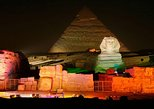 A private camel ride at Sunset,Dinner with the pyramids view& Sound & Light Show