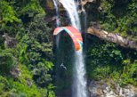AMESOME PARAGLIDING OVER GIANT WATERFALLS FROM MEDELLIN