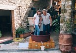 Grape stomping in Tuscan farmhouse from Siena