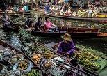 Damnoen Saduak Floating Market and Bridge on The River Kwai Tour from Bangkok