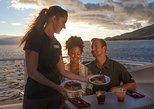 Crucero con cena al atardecer: experiencias gastronómica con cuatro platos