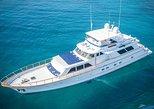 4-hour yacht tour on our 80' Burger Flybridge!