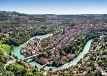 Bern-City helicopter flight from Airport Belp