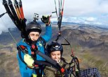 Tandem Paragliding over the Rugged Lava Fields at Blue Mountains