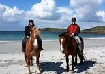 Beach horse riding on a scenic beach in Connemara - Guided. 1 ½ hours.