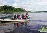 Silent electric motor canoe tour through the canals of Tortuguero