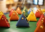 Experience leathercraft in Singapore Haji Lane : Pyramid pouch