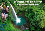 7 cable Zipline Canopy Tour Over La Fortuna Waterfall!