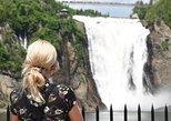 Montmorency Falls y Ste-Anne-de-Beaupré de Quebec. Quebec, CANADA