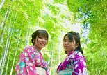 Visit to secret bamboo street with antique kimonos!