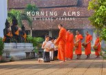 Alms giving ceremony and morning market with taste of local food and dinks