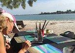 Painting on the Shady Pine Tree Beach