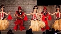 Dancers perform at a Hawaiian luau