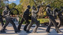 Jazz band sculpture in the Louis Armstrong Park