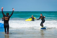 Group Surf Lesson at Fistral beach