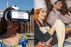 Napoli-style pizza making class & Pompeii Guided Tour with VR Headsets