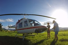 Cairns Helicopter Tour: The Outback, Undara Lava Tubes, Waterfalls and Great Barrier Reef