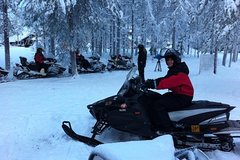 Off the Beaten Track Snowmobile Express Safari in Ruka