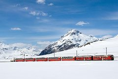 Lake Como, St.moritz And The Red Train