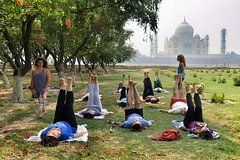 One Hour Yoga Session with view of the beautiful Taj Mahal