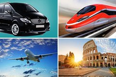 Private Transfer: From Sorrento (hotel) to Rome (hotel-airport-railway station)