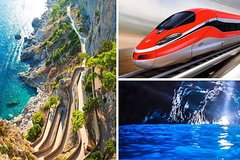 Capri Island and Sorrento Coast Cruise from Rome by Train