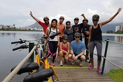 Imagen Carioca Sunset Bike Tour Including Beaches Lagoon and Botanical Garden Visit