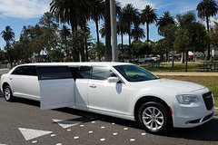 Rent a Car for Wedding: White Chrysler Limousine