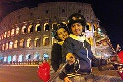 Night in Rome on a Vespa