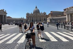 Squares of Rome in Bicycle